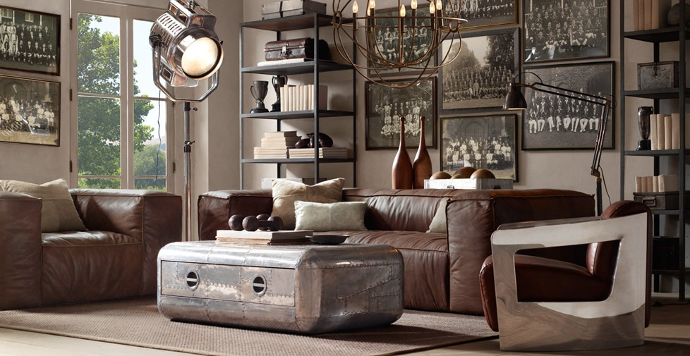 Restauration hardware boston interior industrial home lifestyle