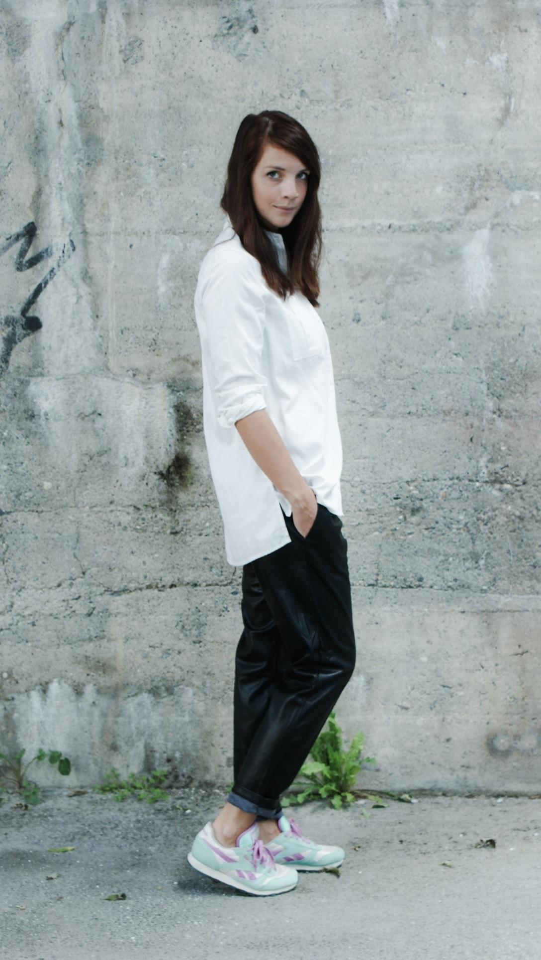 michael kors watch trend fashion streetstyle lookbook outfit zara portrait leather pants