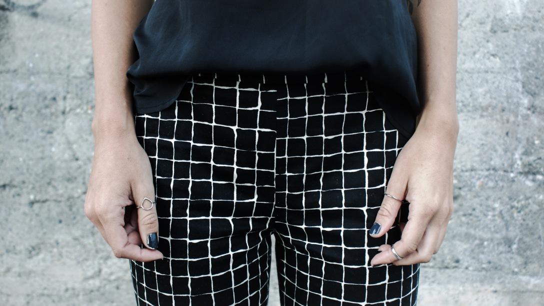 zara pants black white casual streetlook autumn