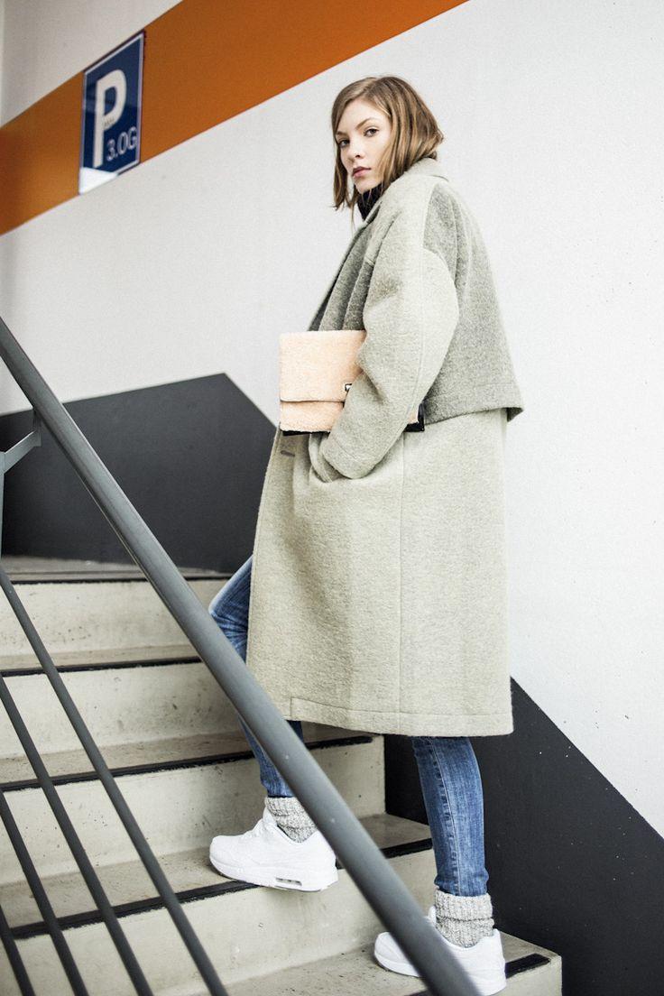oversized wool coat inspiration fashion pinterest